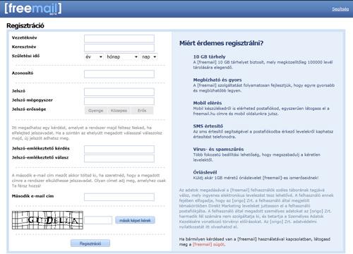 Hu freemail bejelentkezés Freemail szimpla